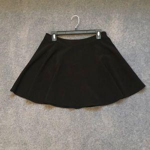 Lush black skater skirt